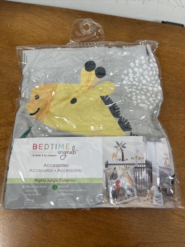 Bedtime Originals Mighty Jungle Gray Elephant/Giraffe Window Valance