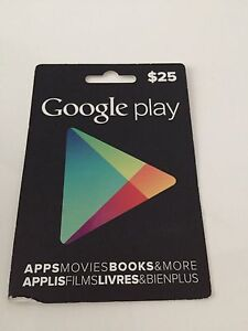 Google Pre Paid Card Never Used 25$
