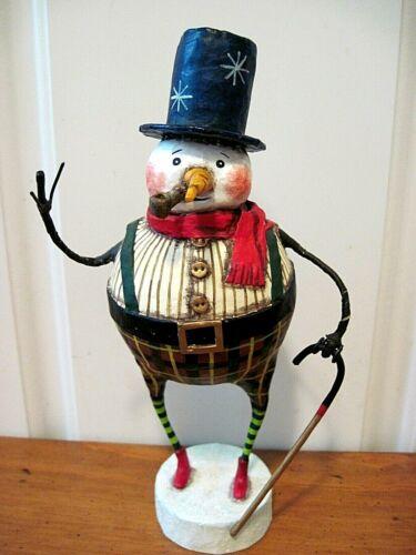 ESC Lori Mitchell New Christmas Good Tidings Snowman Figure