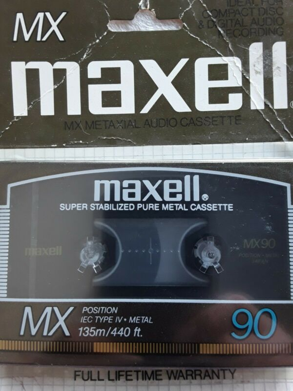 Maxell MX 90 Cassette Tape Metal Rare NOS Audio High Performance
