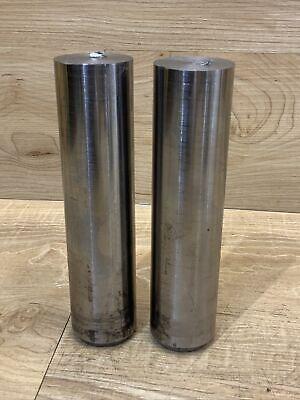 1 58 Solid Steel Round Bar Stock Shaft Blacksmith Lathe Lot Of 2