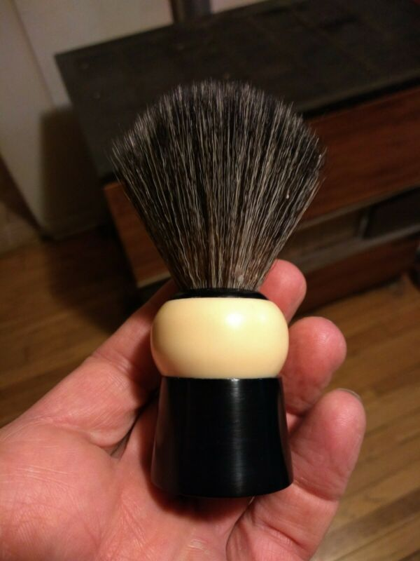 Vintage Rubberset Shaving Brush New 20mm Synthetic Knot Made In Canada