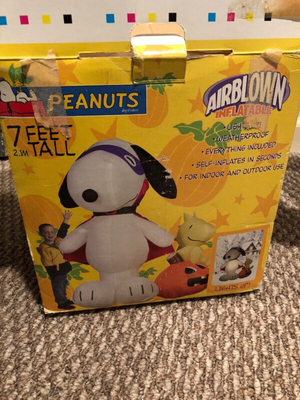 Peanut Halloween Inflatable 7ft Snoopy Gemmy Inflatable Great Condition