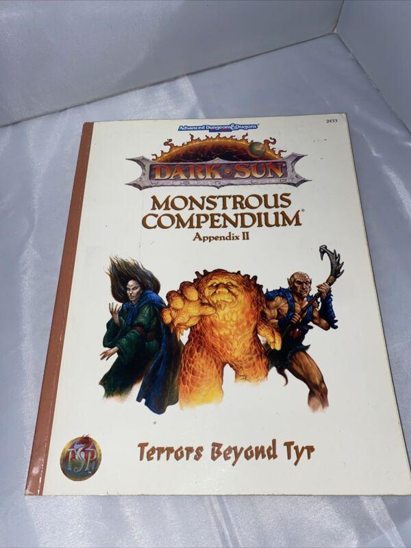 DARK SUN MONSTROUS COMPENDIUM APPENDIX II Advanced Dungeons and & Dragons AD&D 2