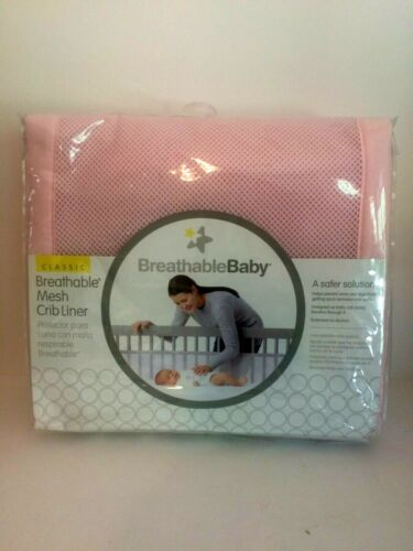 NEW in Package Cribmates Breathable Baby Mesh Crib Liner Pink