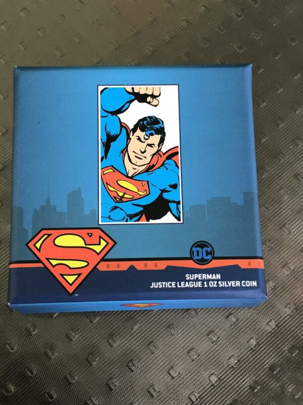 Justice League 60th Anniversary - SUPERMAN 1oz Silver Coin Niue 2020