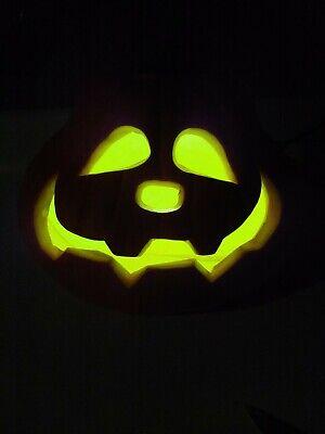 "2011 GEMMY Illuminated Foam Blow Mold Pumpkin Jack O Lantern 8.5"" Brand New"