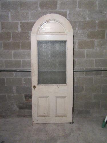~ UNIQUE ANTIQUE DOOR ARCHED CIRCLE TOP ~ 36 X 93.5 ~ ARCHITECTURAL SALVAGE ~
