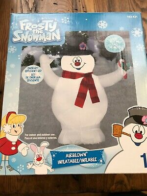Frosty The Snowman 3.5-ft Christmas Holiday Airblown Inflatable Gemmy RARE
