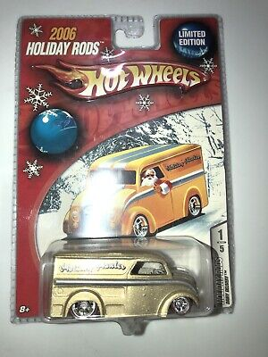 Hot Wheels Holiday Hot Rods Dairy Delivery In Gold Redline Real Riders