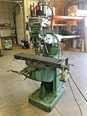 Bridgeport Vertical Mill 1 Hp 240vac 1-phase Or 3-phase Variable Speed.