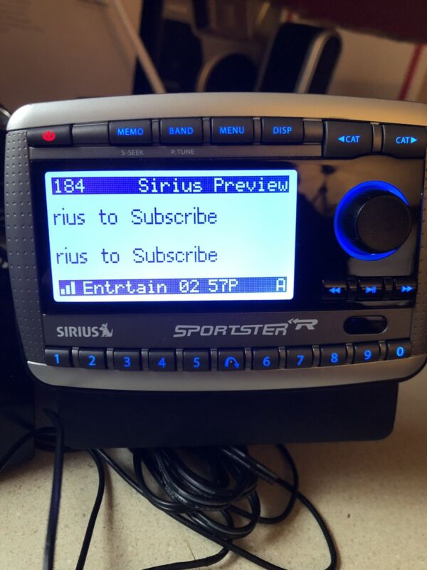 SIRIUS SPORTSTER SP-R2 replacement RECEIVER ONLY CALL PRE 87.7 EUC button lights