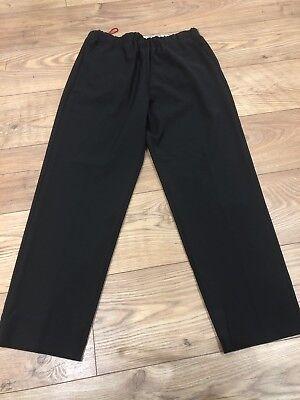 JUCCA Wool Mix Stretch Straight Leg Black Size Tg 44 Size 14 / 16 New