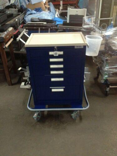 Blue Bell Bio-Medical Blue Six Drawer Medical Crash Cart