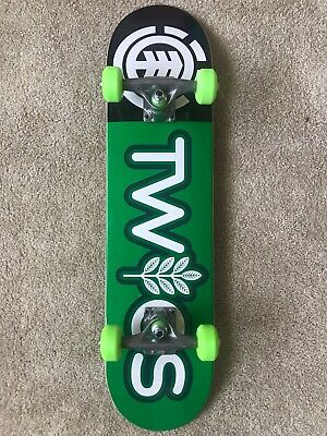 Element Skateboards - Green Twigs Complete - Size 7.2 - w/Mini Logo Accessories.