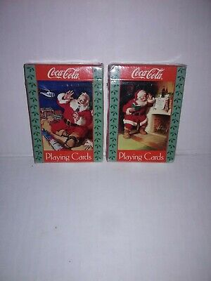 2 Packs Coca Cola Christmas Playing Cards New