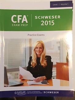 CFA level 1 study books. Volume 1-5 (Including practice exams)