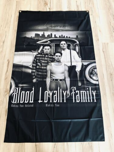 Blood In Blood Out Blood Loyalty Family 3ftx5ft flag banner black los angeles