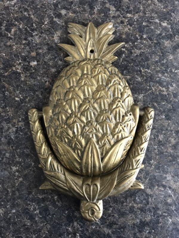 """Vintage Solid Brass Pineapple Door Knocker 7.5"""" x 5"""""""