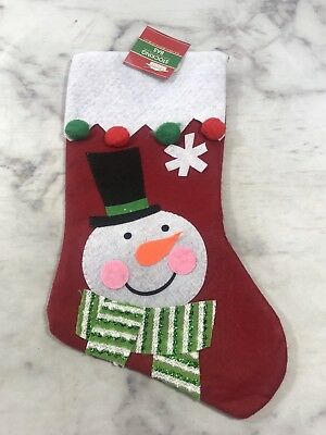 Snowman Traditional Christmas Decoration Xmas Stocking Santa Christmas Gifts NEW