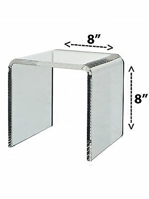 Riser Clear Acrylic Cube Counter Jewelry Pedestal Display Stand 8 X 8
