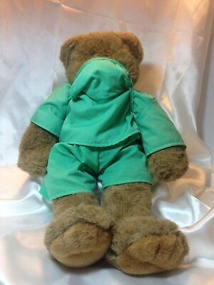 Build A Bear Workshop Plush Brown Bear With Surgeon or Doctor Outfit BAB