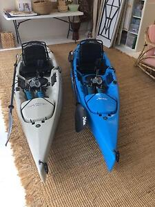 2 x Hobie Revolution 11  2015  Sand and Blue Immaculate condition Wakerley Brisbane South East Preview