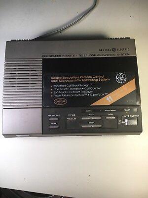 GE Micro Cassette Telephone Answering Machine  Model 2-9880A see description