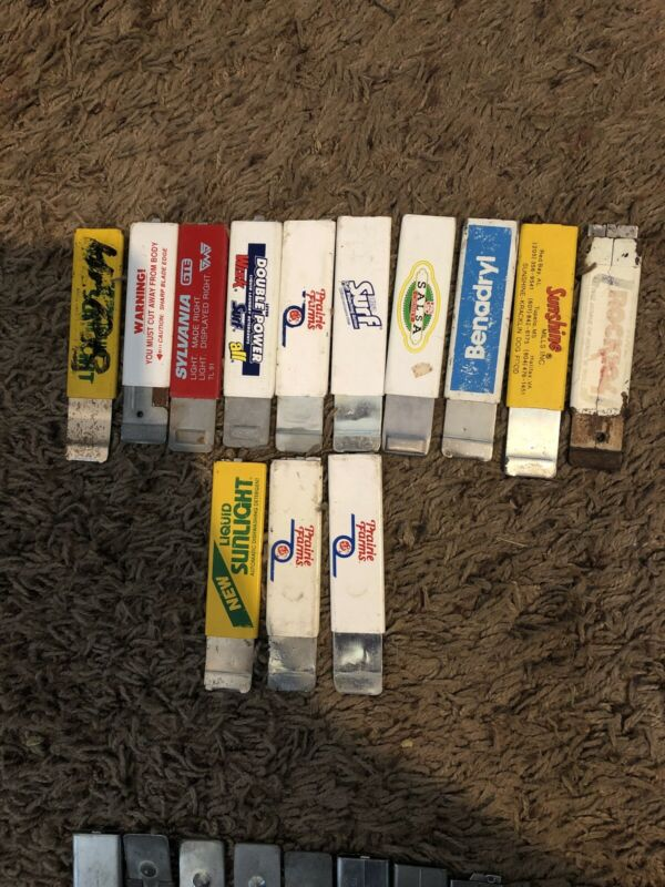 "Lot Of 13 ANTIQUE ADVERTISING ""BOX CUTTER"""