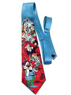 7 Drawfs of Snow White Tie Dopey Doc Sneez Grumpy Bashfull Happy Sleepy Disney B