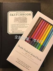 Color pencils and a notebook