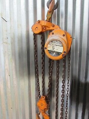 Harrington Chain Hoist 5 Ton 20 Lift Cf050-20