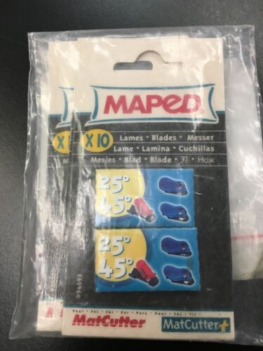 Maped MatCutter 25º 45º with 10 Extra Blades (3 Pack)