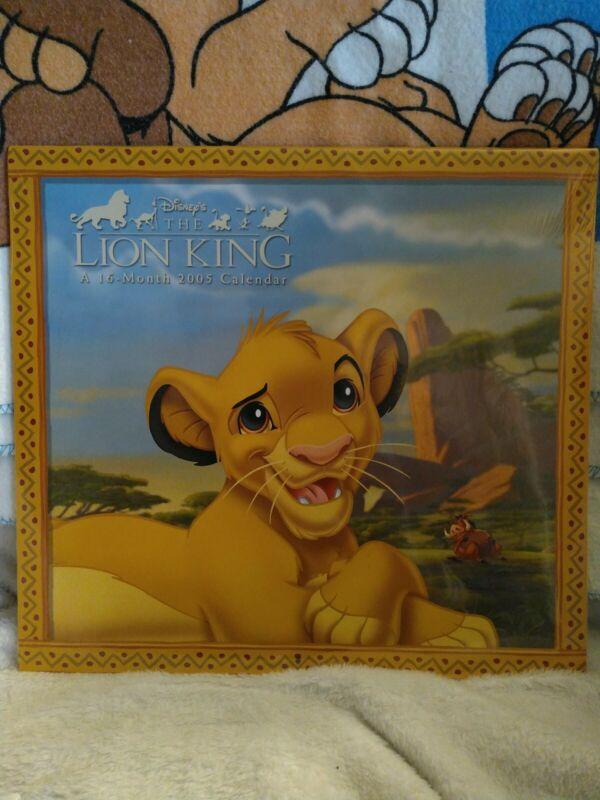 THE LION KING A 16 MONTH 2005 CALENDAR