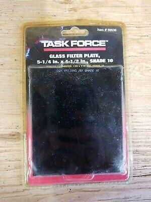 Task Force Shade 10 Welding Helmet Glass Filter Plate Lens 4 12 X 5 14 89538