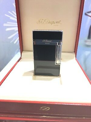 S.T. Dupont Lighter - Ligne 2 Palladium & Black Chinese Lacquer Black Chinese Lacquer Lighter