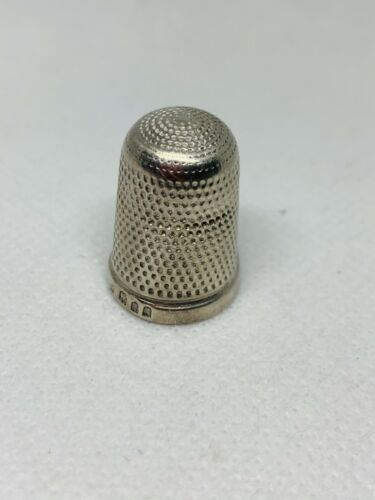 Full Hallmarked Vintage Thimble Solid Sterling Silver 3.10 grams #10620