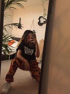 Rothco orange camo pants