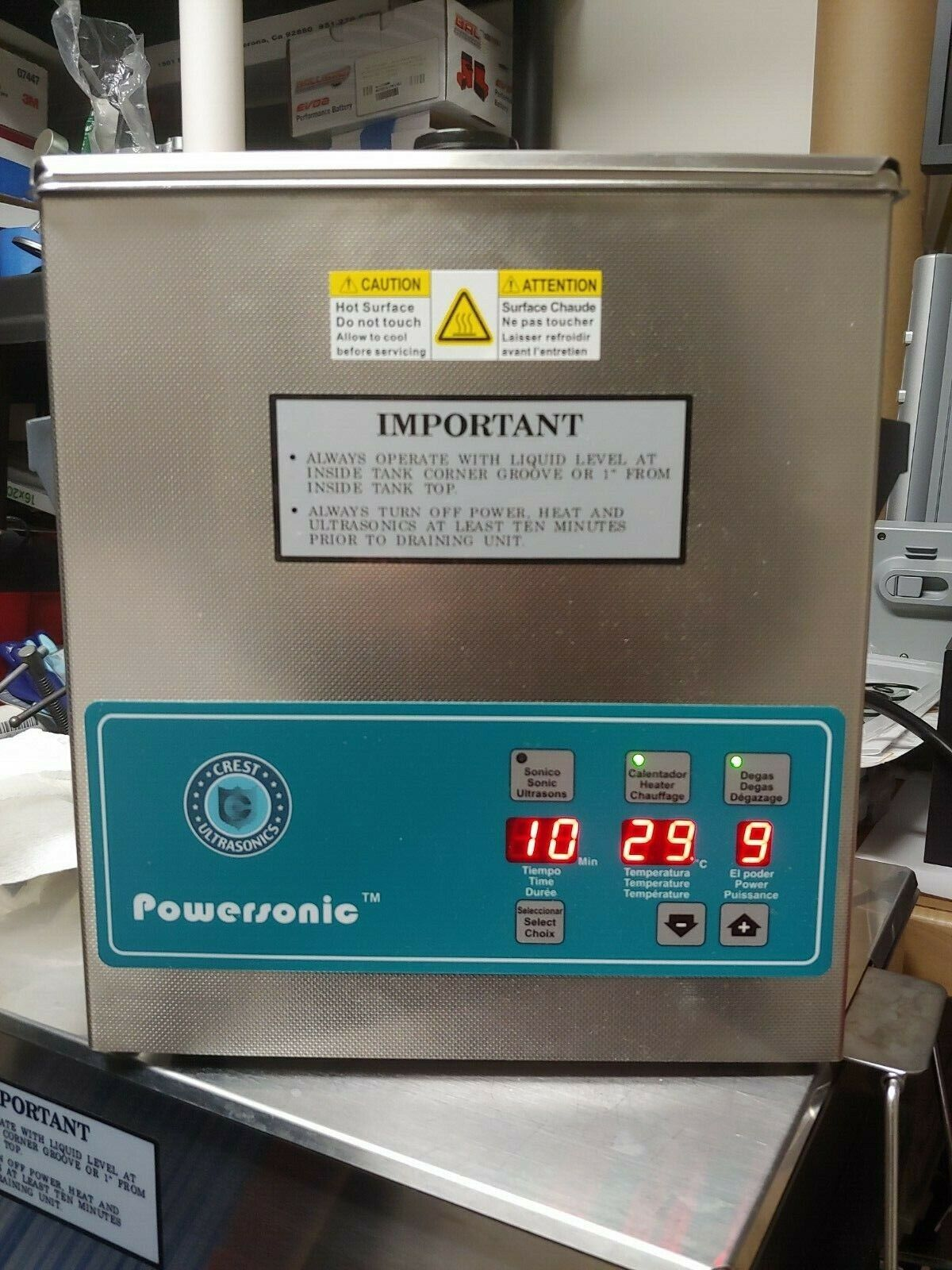 Crest Powersonic P360D-45 Ultrasonic Cleaner with Heat, Time