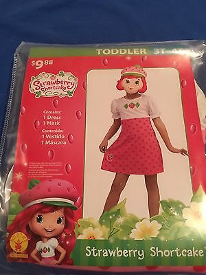 Halloween Costume Girls Toddlers Strawberry Shortcake Size 3T-4T - Strawberry Shortcake Girls Costume