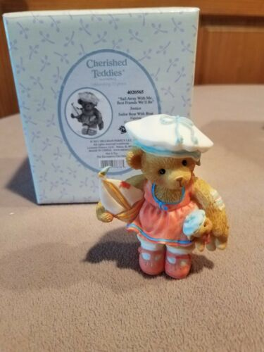 """Cherished Teddies Justice """"Sail Away with Me, Best Friends We'll Be""""#4020565NIB"""