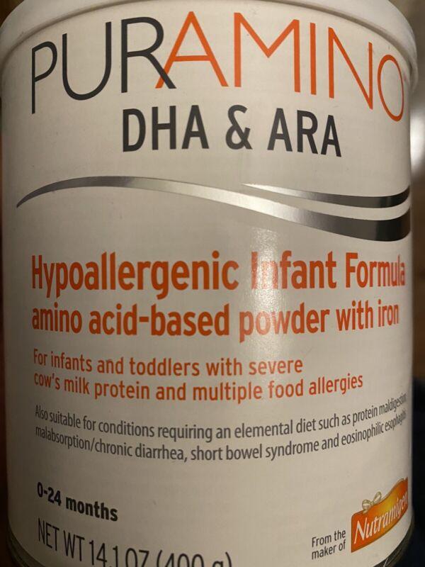 Puramino DHA/ARA, 4 cans X 14.1oz, exp AUG 2022