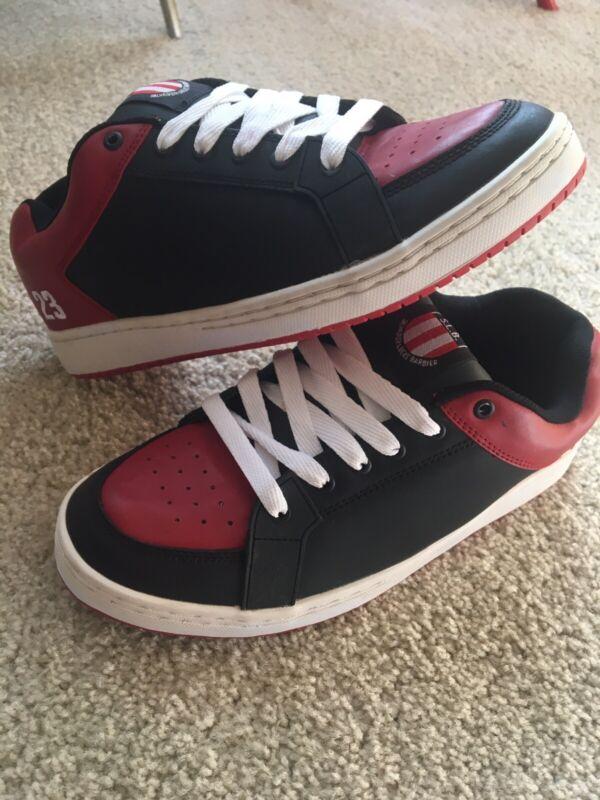 Vintage Etnies SLB 23 Black Red Size 10.5 2003 Sal Barbier