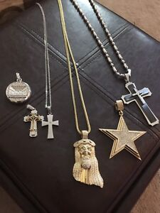 Men necklace/pendants ... for sale $50. take all jewellery