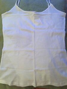 White cotton camisole vest top, h&m, size M