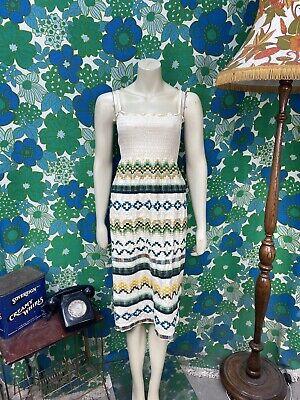 AJ7 Vintage Indian Cotton Dress Handmade Size 6