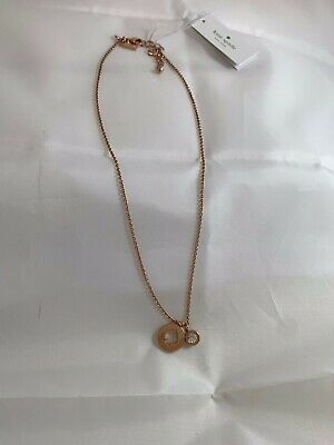 KATE SPADE ROSEGOLD SPOT THE SPADE NECKLACE NWT $30.00