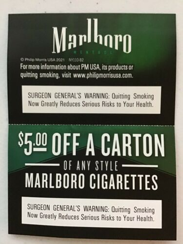 $5.00 Off A Carton Any Style Marlboro Cigarettes