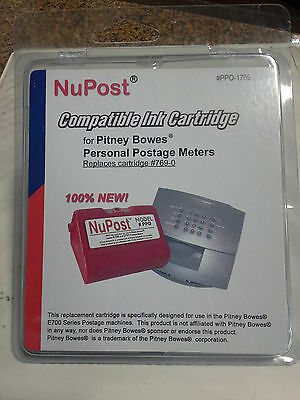NuPost Compatible Ink Cartridge E700 Pitney Bowes Replacement 769-0 Model PPO ()