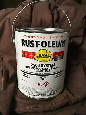 1 Gallon Rust-oleum 2500 System DTM 250 Voc Alkyd Enamel Safety Red 215951 (2500 Alkyd Enamel)